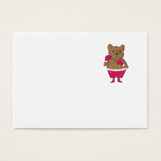 French Bulldog Boxer Boxing Stance Cartoon Business Card