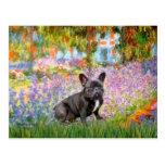 French Bulldog (br10) - Garden Postcard
