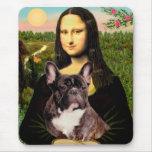 French Bulldog (br10) - Mona Lisa Mouse Pad