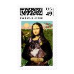 French Bulldog (br10) - Mona Lisa Postage Stamp