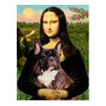 French Bulldog (br10) - Mona Lisa Postcard