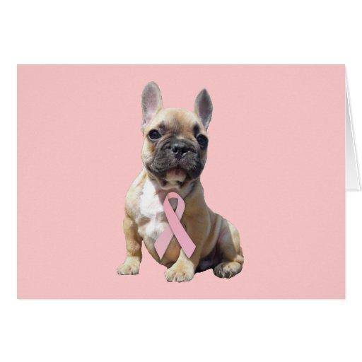French Bulldog Breast Cancer Greeting Card