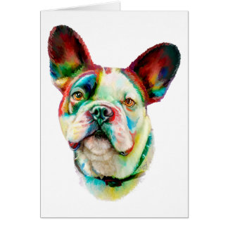 French Bulldog Bright Bust Cards