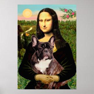 French Bulldog (brindle) - Mona Lisa Poster