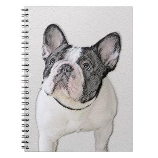French Bulldog (Brindle Pied) Painting - Dog Art Notebook