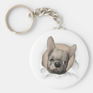 French Bulldog (Buff) Busting Out Keychains