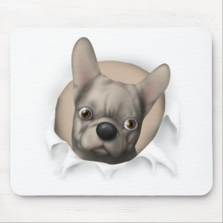 French Bulldog (Buff) Busting Out Mouse Pad
