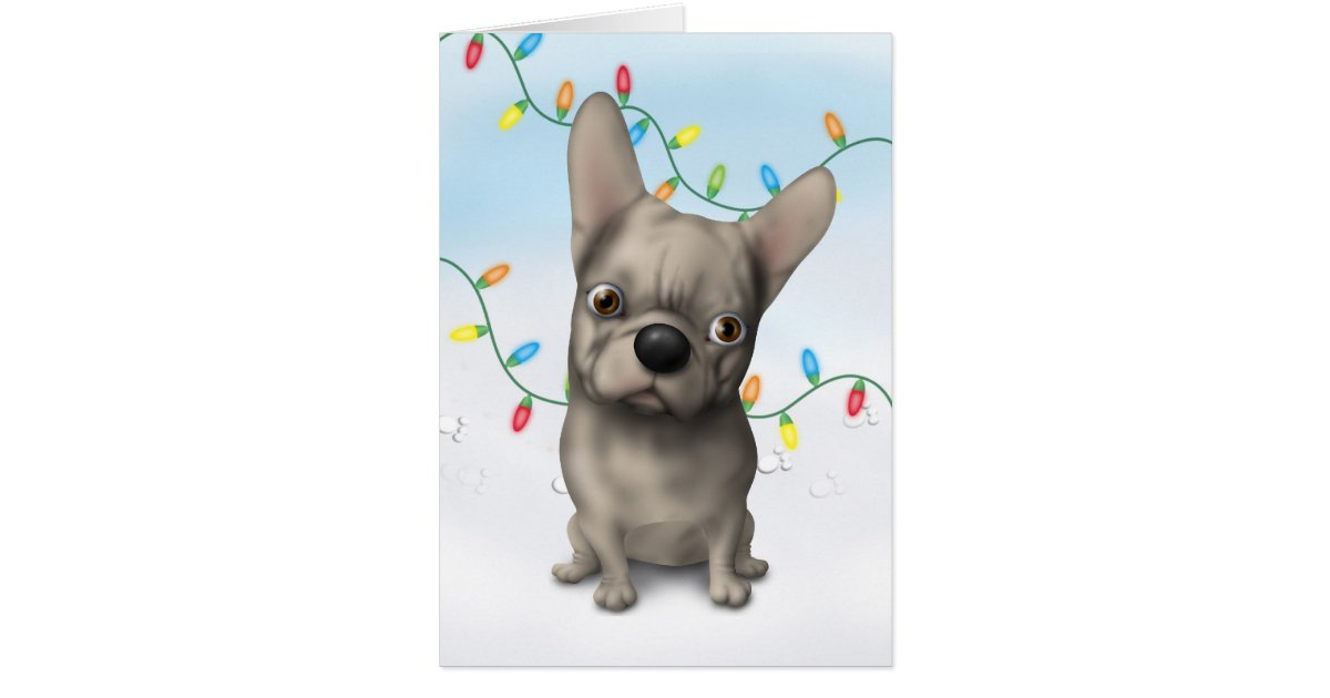 buff bulldog french bulldog buff christmas card zazzle 8018