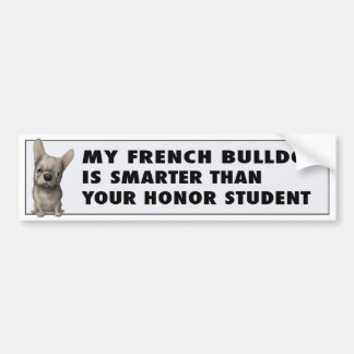 French Bulldog (Buff) Honor FB1 Car Bumper Sticker