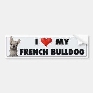 French Bulldog (Buff) Love FB1 Car Bumper Sticker