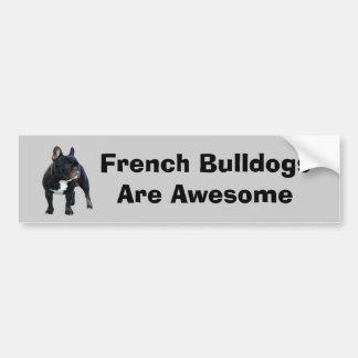 French Bulldog Bumper Sticker Car Bumper Sticker