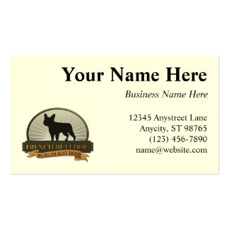 French Bulldog Double-Sided Standard Business Cards (Pack Of 100)