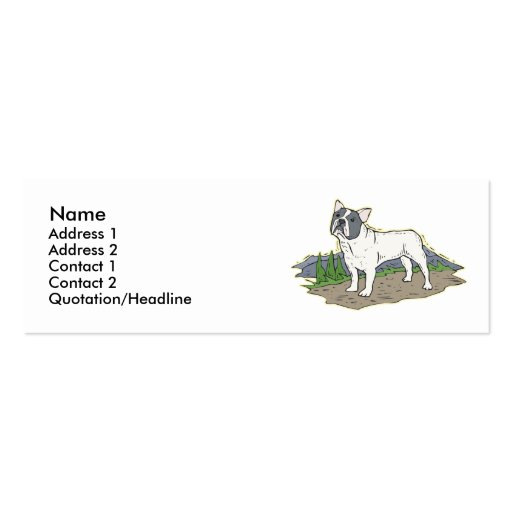 French Bulldog Business Card Templates