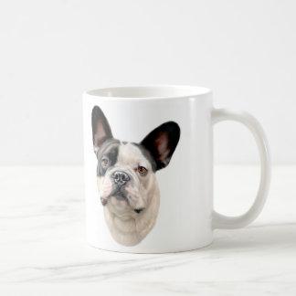 French Bulldog BW Bust Classic White Coffee Mug