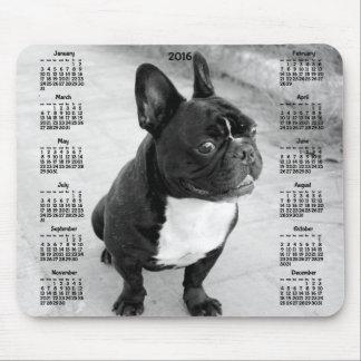 French Bulldog Calendar 2016 Photo Mouse Pads