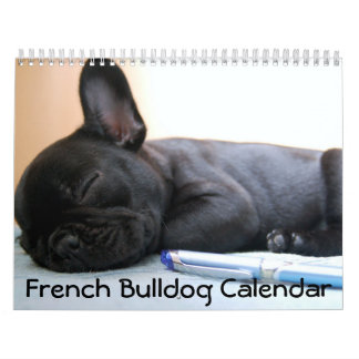 French Bulldog Calendar 2018 Personalized
