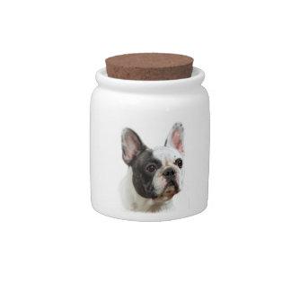 French Bulldog Candy Jars