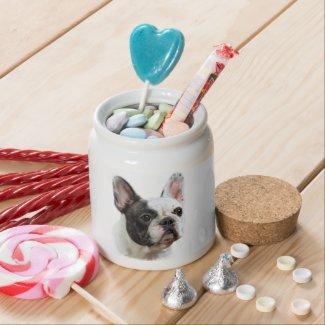 French Bulldog Candy Jar