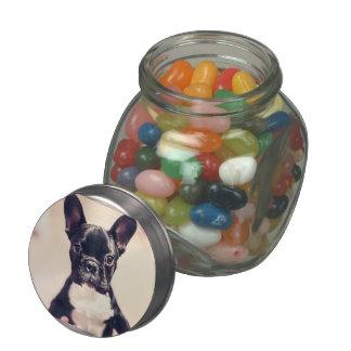 French Bulldog Glass Candy Jars
