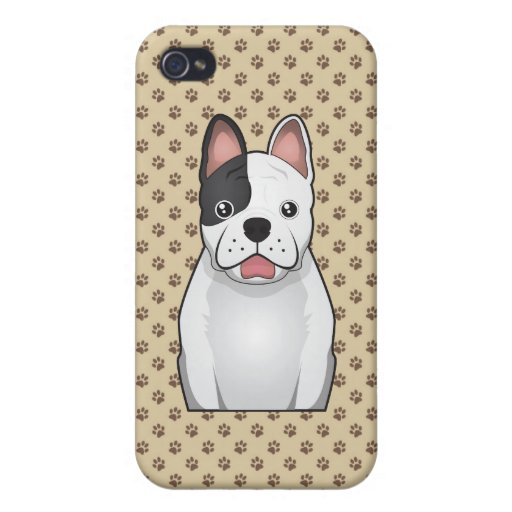 French Bulldog Cartoon iPhone 4 Cases
