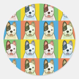 French Bulldog Cartoon Pop-Art Stickers