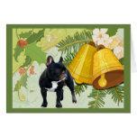 French Bulldog Christmas Card Bells