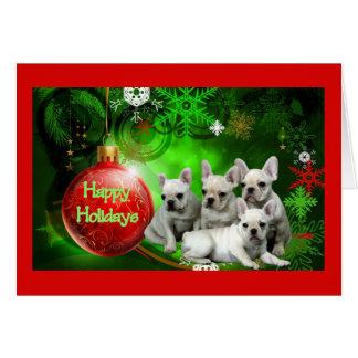 French Bulldog Christmas Card Happy Holidays