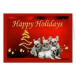 French Bulldog Christmas Card Stars