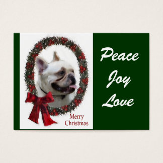 French Bulldog Christmas Gifts Business Card