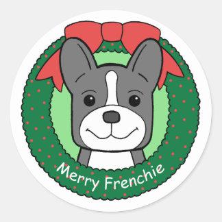 French Bulldog Christmas Sticker