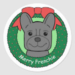 French Bulldog Christmas Stickers