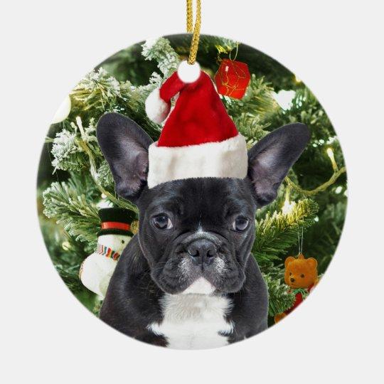 French Bulldog Christmas Ornament.French Bulldog Christmas Tree Ornaments Snowman