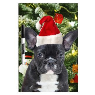 French Bulldog Christmas Tree Ornaments Snowman Dry-Erase Board