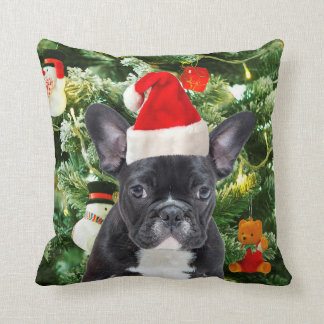 French Bulldog Christmas Tree Ornaments Snowman Pillow