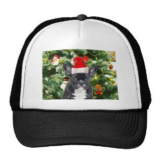 French Bulldog Christmas Tree Ornaments Snowman Trucker Hat