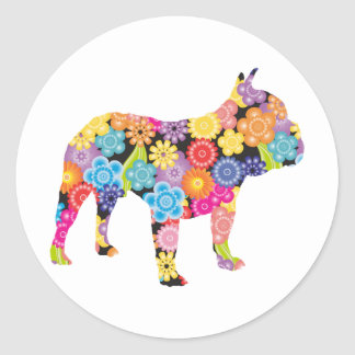 French Bulldog Classic Round Sticker