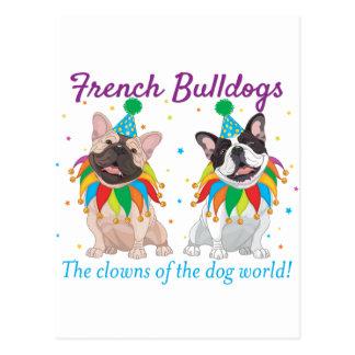 French Bulldog Clown - Support French Bulldog Club Postcard