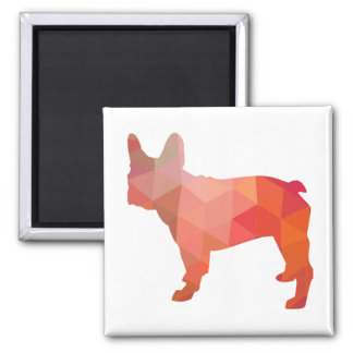 French Bulldog Colorful Geometric Silhouette Magnet