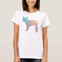 French Bulldog Colorful Geometric Silhouette T-Shirt