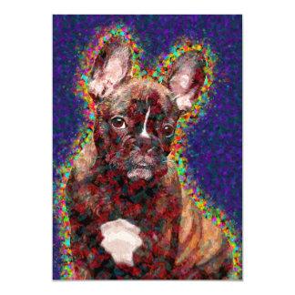 French Bulldog Colorful Pop Art Card