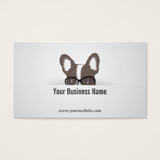 French Bulldog Consulting Detective Business Card