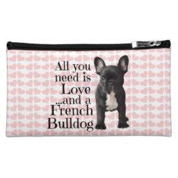 French Bulldog Cosmetic Bag - Love