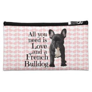 French Bulldog Cosmetic Bag - Love at Zazzle