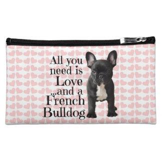 French Bulldog Cosmetic Bag - Love