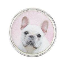 French Bulldog (Cream/White) Lapel Pin