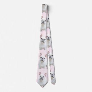 French Bulldog (Cream/White) Neck Tie