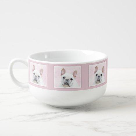 French Bulldog (Cream/White) Painting - Dog Art Soup Mug