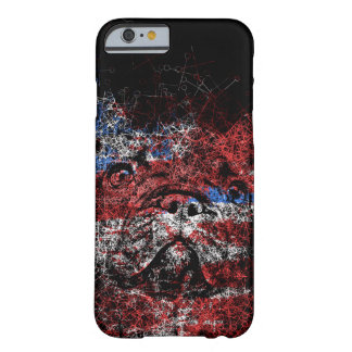French Bulldog Creative Lines Patriotic Barely There iPhone 6 Case