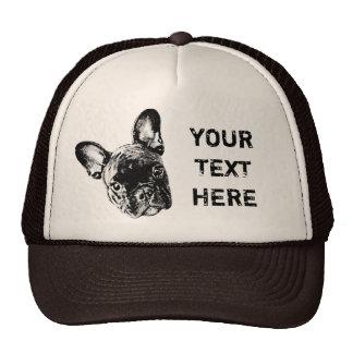 French Bulldog Custom Font Trucker Hat