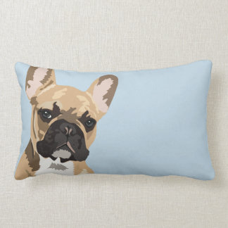 French Bulldog | Cute Frenchie Double Sided Lumbar Pillow